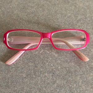 Pink Rimmed Glasses
